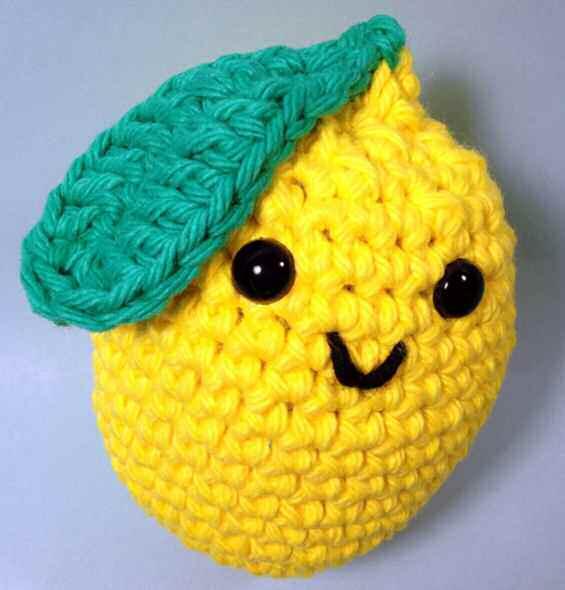 Лимон амигуруми схема вязаной игрушки крючком