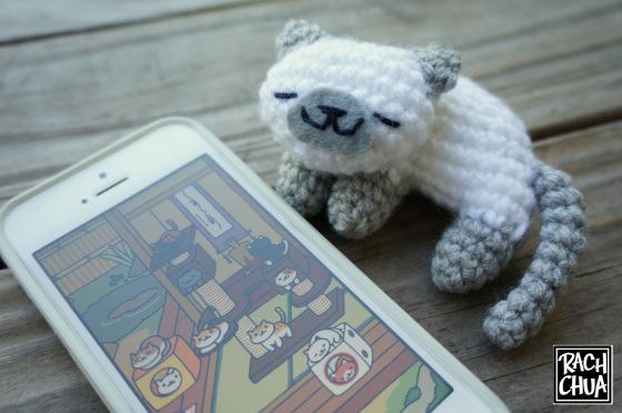 Neko Atsume котик амигуруми