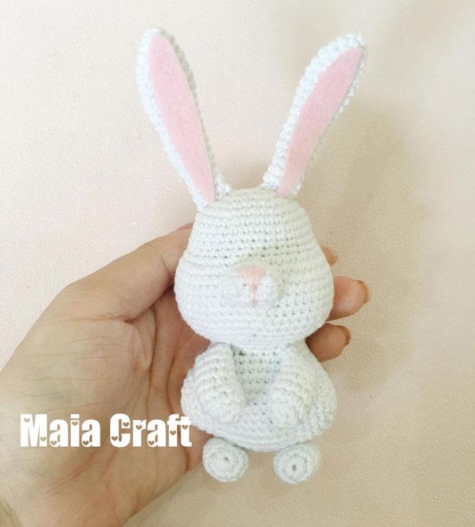 Вязание игрушек кролик крючком