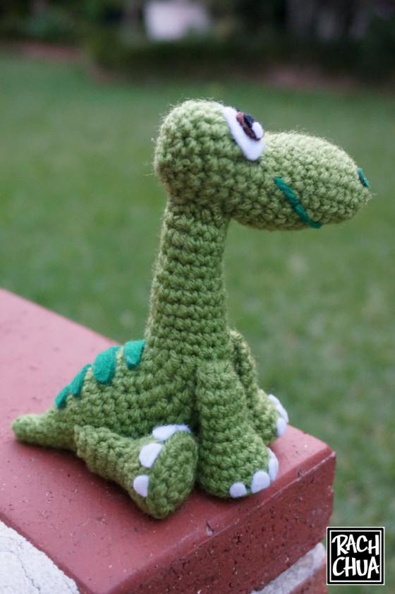 Вязание игрушки динозавра амигуруми