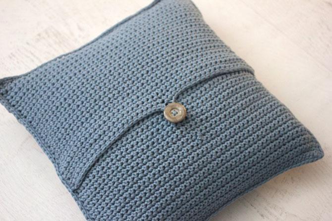 Вязанные крючком подушки схемы