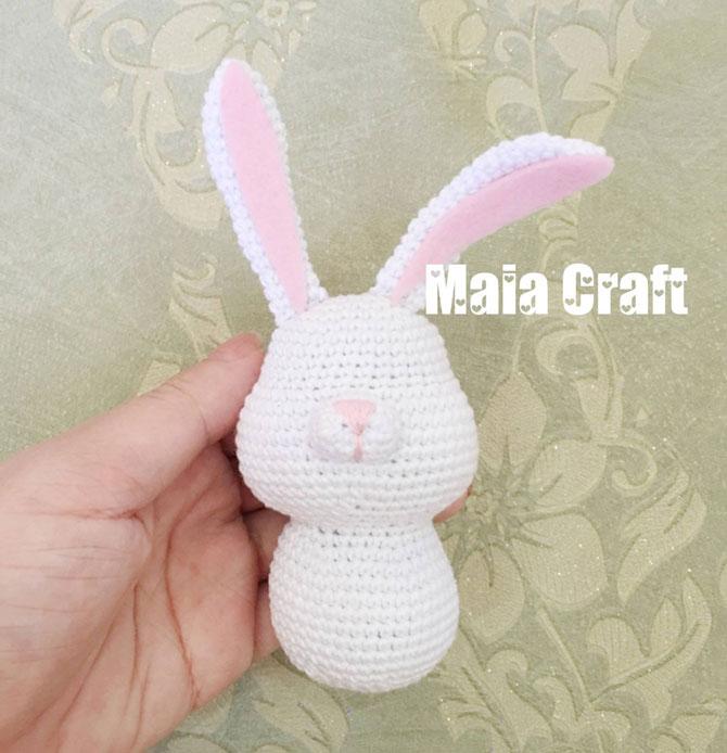 Вязаные игрушки кролик схемы