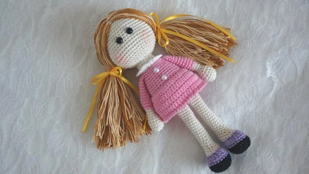 аригуми крючком со схемами куклы
