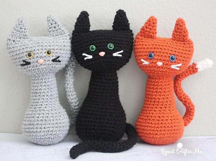 Кошки амигуруми крючком схема
