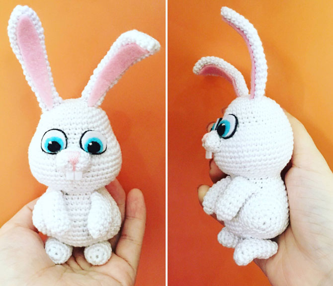 Кролик амигуруми крючком схема