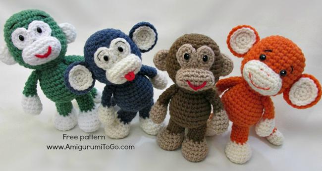 Вязание схемы для обезьяны