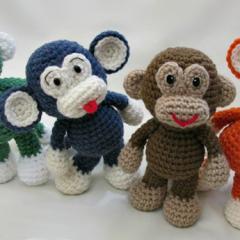 вязаная обезьяна амигуруми схема