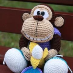 вязаная обезьяна амигуруми мк описание