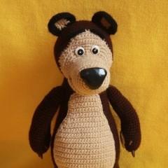 схема вязания медведя из мультфильма маша и медведь мастер-класс