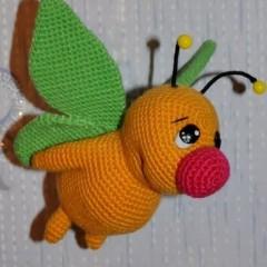 вязаные игрушки амигуруми мотылек