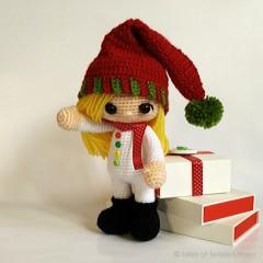 рождественский эльф кукла описание вязания схема мастер-класс