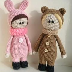 вязаные куклы крючком в одежде животных схема вязания