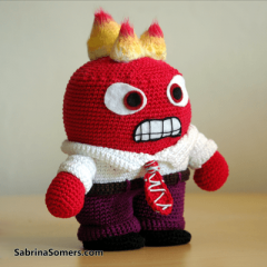 игрушка гнев из головоломки схема вязания