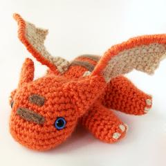 игрушка дракон амигуруми крючком схема
