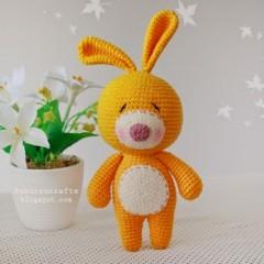 вязаные игрушки амигуруми кролик крючком