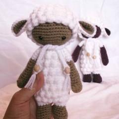 игрушки крючком вязаная овечка лали