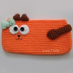 кот кошелек крючком схема вязания