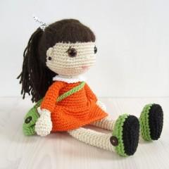 кукла в платье крючком схема