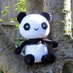 панда амигуруми вязаная игрушка крючком