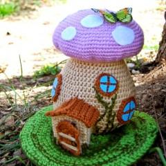 сказочный домик крючком схема вязания