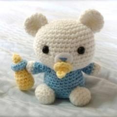 вяжем игрушки крючком схема медвежонка