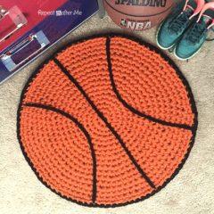 вязание крючком коврик мяч схема