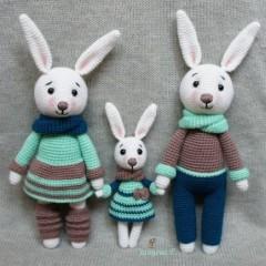 игрушки амигуруми крючком зайцы схемы
