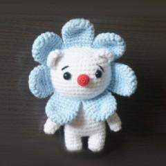 мишка цветочек схема игрушки амигуруми
