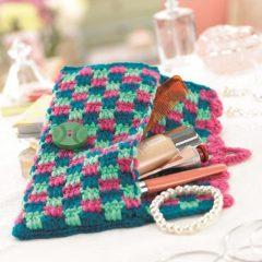 вязание сумочки клатча крючком