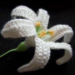 вязание цветов крючком лилии