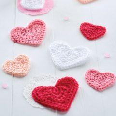 вязание крючком сердечки схемы