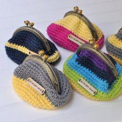 вязание крючком схемы кошелек