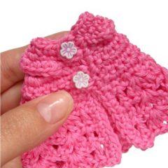 вязание платья для игрушки амигуруми крючком