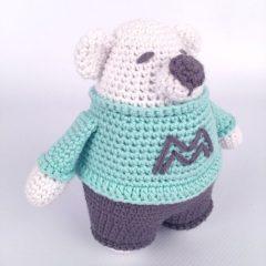 амигуруми медвежонок крючком схема вязаной игрушки