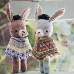 амигуруми ослик крючком схема вязаной игрушки