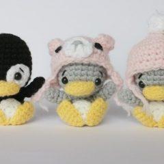 амигуруми пингвин схема игрушки крючком