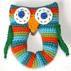 амигуруми сова погремушка схема вязаной игрушки