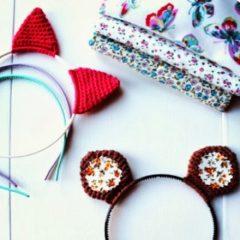 вязание крючком ободки с ушками схемы