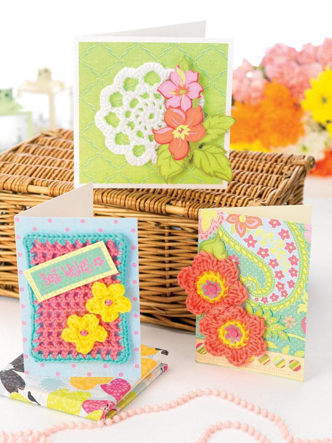 Вязанные открытки крючком, поздравлениями