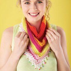 вязание крючком платок шаль
