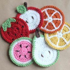 вязание крючком фрукты схемы