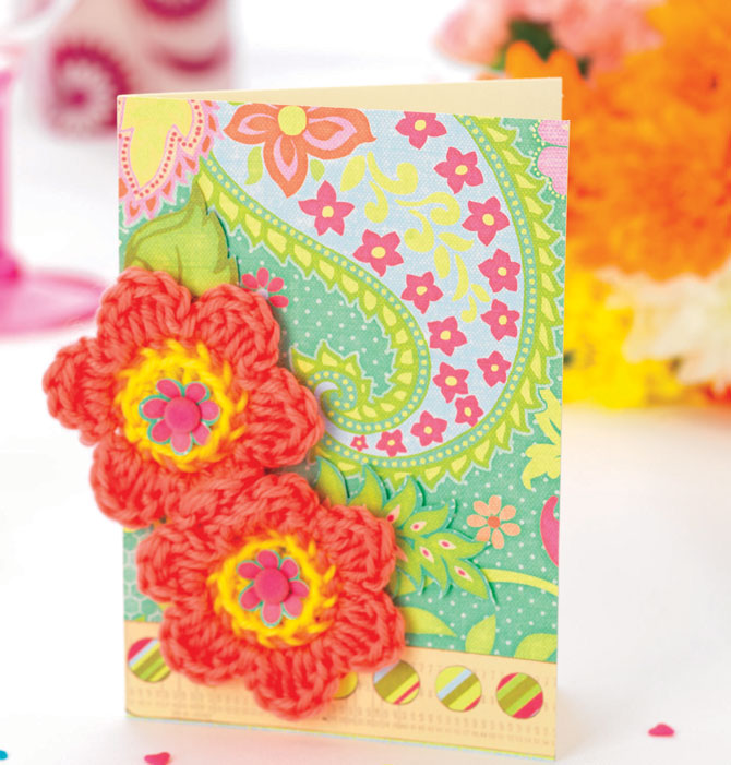 Подпись открытки, открытка вязаные