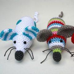 мышка амигуруми схема вязаной игрушки крючком