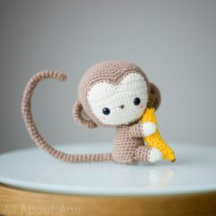 обезьянка амигуруми крючком схема вязаной игрушки