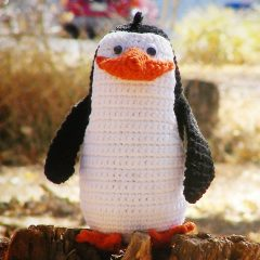 пингвин мадагаскар схема вязаной игрушки крючком