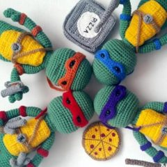схемы вязаных игрушек ниндзя