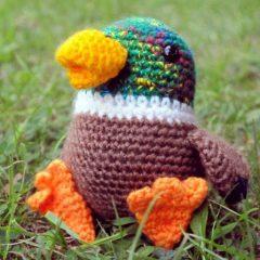 вязаная игрушка птичка амигуруми крючком схема