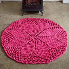 вязание крючком ажурный коврик схема