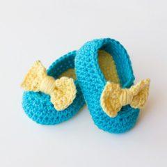 вязание пинетки крючком для девочки схемы
