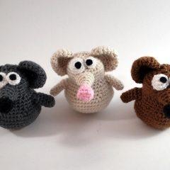 вязаные игрушки крючком крыски амигуруми схемы